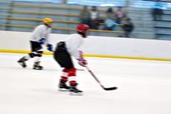 Giocatori di hokey sul ghiaccio Fotografia Stock Libera da Diritti