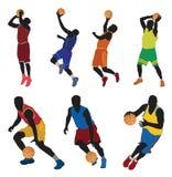 Giocatori di pallacanestro illustrazione di stock