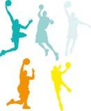 Giocatori di pallacanestro Immagine Stock Libera da Diritti
