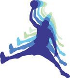 Giocatori di pallacanestro Immagine Stock
