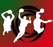 Giocatori di pallacanestro illustrazione vettoriale
