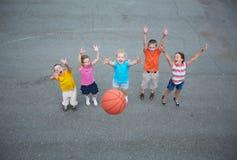 Giocatori di pallacanestro Immagini Stock Libere da Diritti