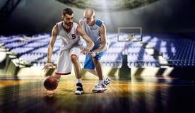 giocatori di pallacanestro Fotografie Stock