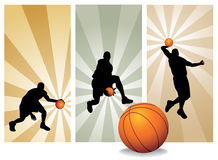 Giocatori di pallacanestro di vettore Fotografia Stock Libera da Diritti