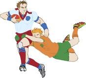 Giocatori di rugby Fotografia Stock