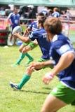 Giocatori di rugby dalla palla del fermo del Portogallo Fotografia Stock Libera da Diritti