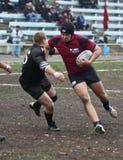Giocatori di rugby nell'azione Immagine Stock Libera da Diritti