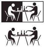 Giocatori di scacchi. Immagine Stock