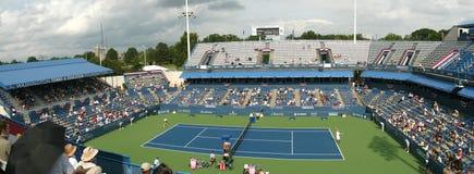Giocatori di tennis professionale - corrispondenza Immagini Stock