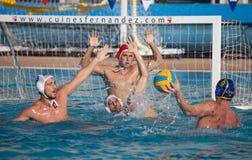 Giocatori di Waterpolo Immagine Stock