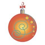 Giocattoli arancio di Natale Fotografie Stock