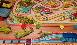 Giocattoli d'annata Giocattoli per i ragazzi Retro giocattoli Fotografie Stock