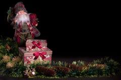 Giocattoli degli alberi di Santa Gifts Christmas Celebrazione di festa di Natale Immagine Stock Libera da Diritti