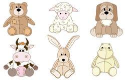 Giocattoli degli animali della peluche illustrazione vettoriale