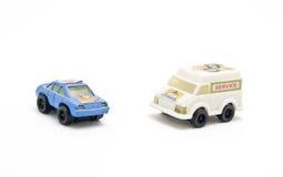 Giocattoli del camion e dell'automobile di salvataggio Fotografie Stock