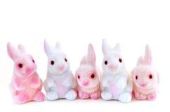 Giocattoli del coniglietto di pasqua Fotografia Stock