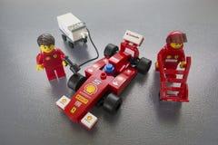 Giocattoli del Ferrari Lego delle coperture Fotografia Stock Libera da Diritti