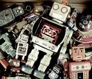 Giocattoli del robot Fotografie Stock