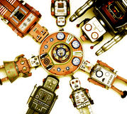 Giocattoli del robot Fotografia Stock Libera da Diritti