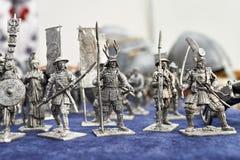 Giocattoli del samurai dei soldati di latta Immagine Stock