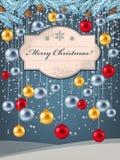 Giocattoli dell'albero di Natale Immagini Stock