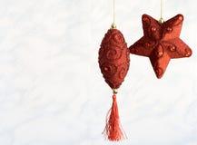 Giocattoli dell'albero di Natale dell'artigianato fotografia stock libera da diritti