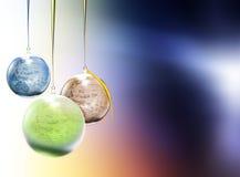 giocattoli dell'Pelliccia-albero sotto forma d'un pianeta Fotografia Stock Libera da Diritti