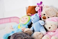 Giocattoli della neonata Fotografia Stock
