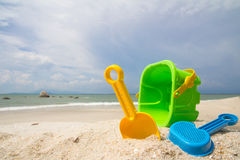 Giocattoli della spiaggia Fotografia Stock
