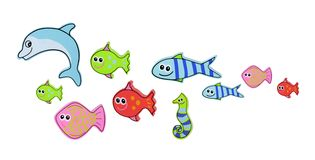 Giocattoli delle creature del mare fotografie stock