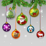 Giocattoli delle palle di Natale Immagine Stock