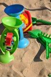 Giocattoli di festa alla spiaggia Fotografia Stock Libera da Diritti