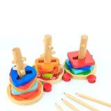 Giocattoli di legno Immagine Stock