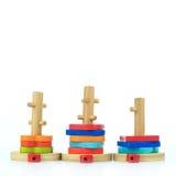Giocattoli di legno Fotografia Stock