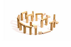 Giocattoli di legno del blocco fotografia stock libera da diritti
