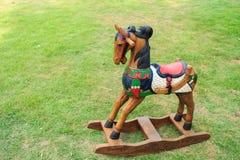 Giocattoli di legno del cavallo Fotografia Stock Libera da Diritti
