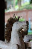 Giocattoli di legno del cavallo Immagine Stock