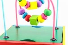 Giocattoli di legno, gioco di sviluppo per i bambini Fotografia Stock Libera da Diritti