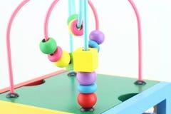 Giocattoli di legno, gioco di sviluppo per i bambini Immagine Stock Libera da Diritti