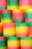 Giocattoli di plastica cromatici Fotografia Stock