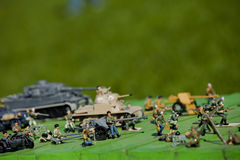 Giocattoli di tecnica dell'esercito Fotografie Stock Libere da Diritti