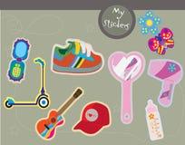 Giocattoli ed accessori teenager Fotografia Stock Libera da Diritti