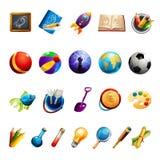 Giocattoli ed oggetti dei bambini Immagini Stock