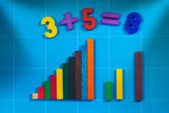 Giocattoli matematici per la scuola primaria Fotografie Stock