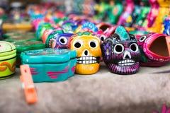 Giocattoli messicani del cranio Immagine Stock