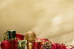 Giocattoli minuscoli di Natale Immagine Stock