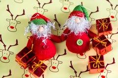 Giocattoli Nuovo anno 2017 Santa e regali Fotografia Stock