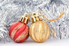 Giocattoli per l'albero di Natale Fotografia Stock