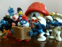 Giocattoli raccoglibili: i Puffi! Fotografia Stock