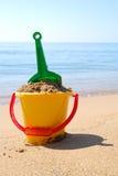 Giocattoli sulla spiaggia Fotografia Stock